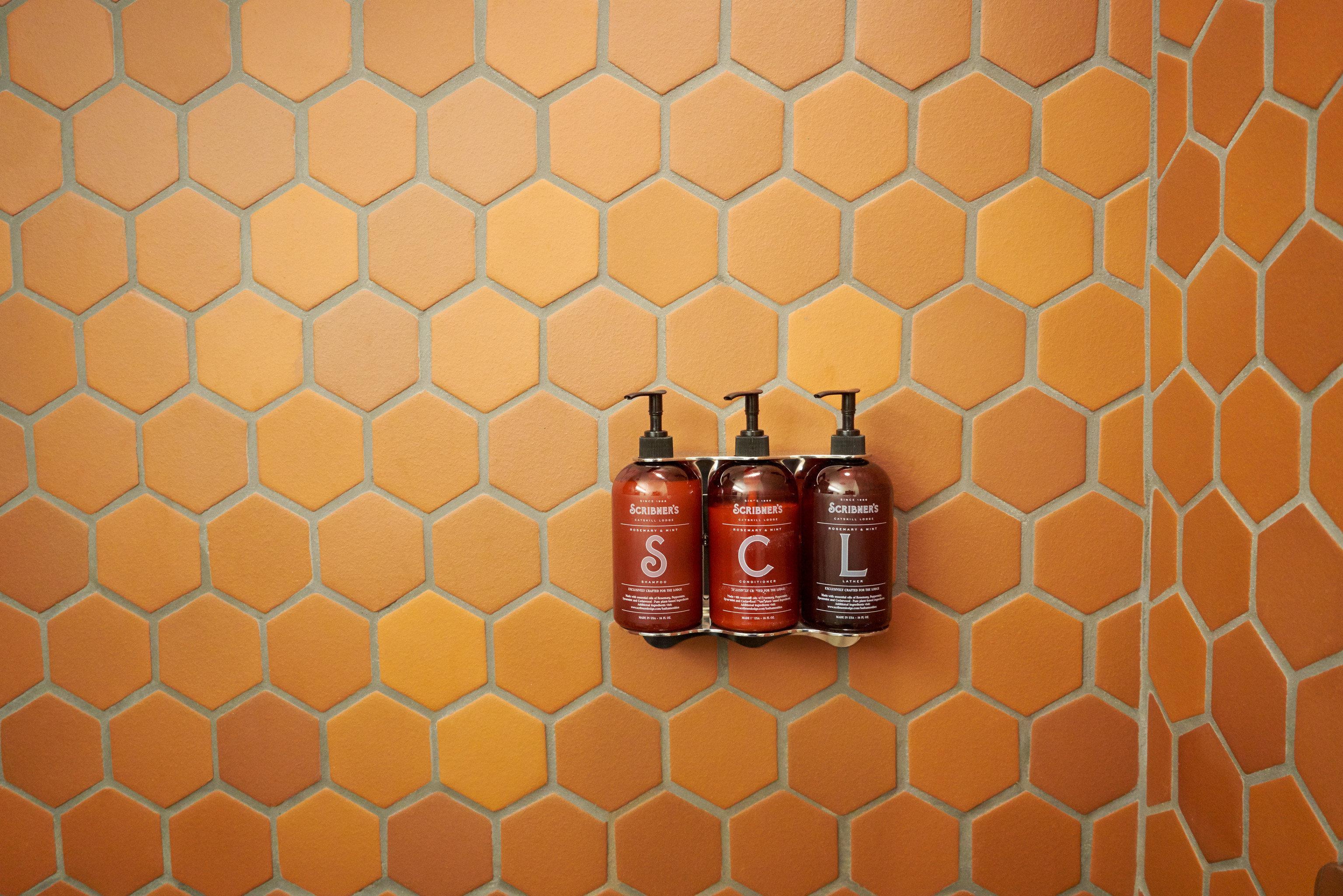 red orange pattern distilled beverage flooring row