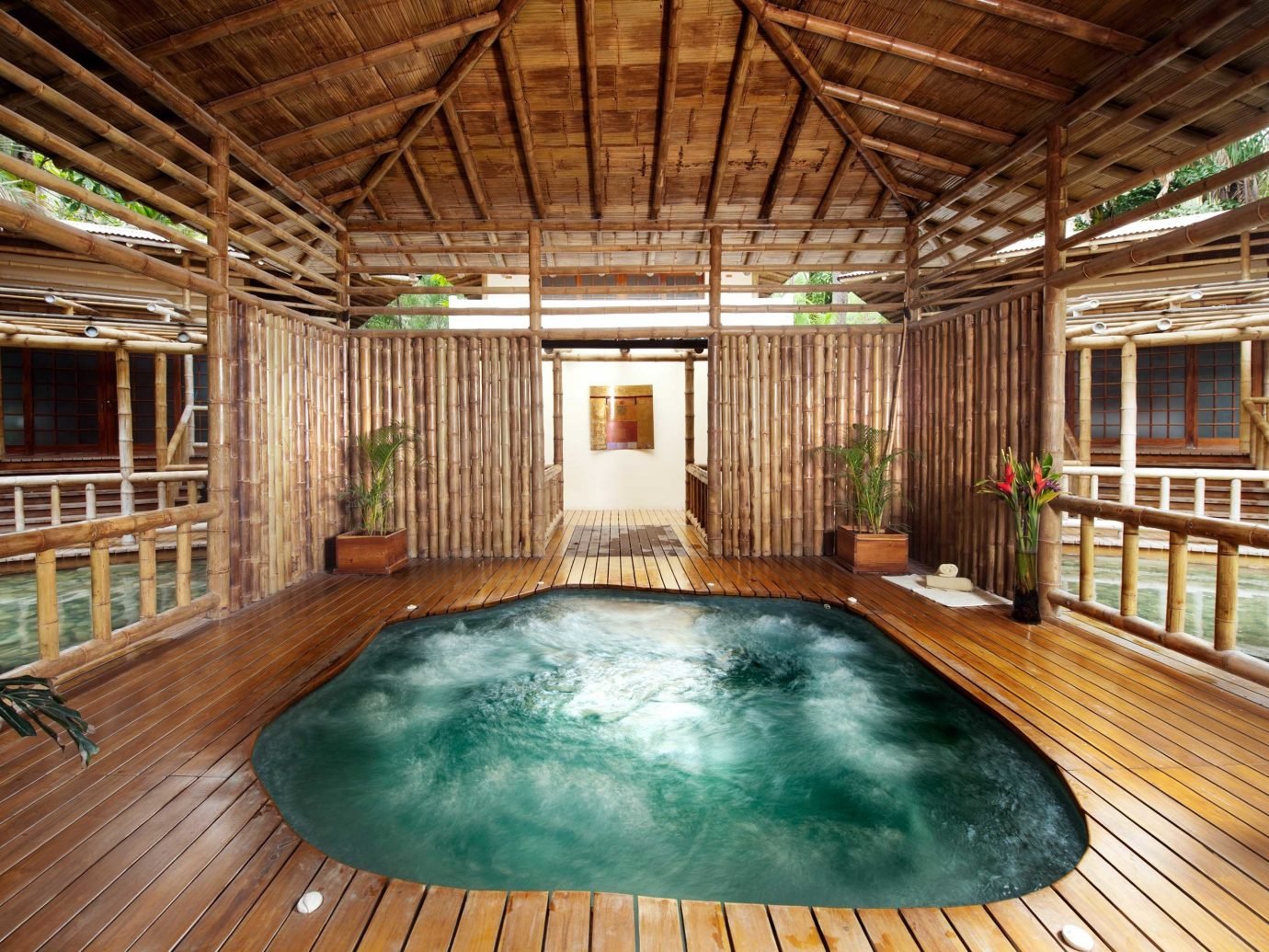 Indoor Jacuzzi At Florblanca In Costa Rica