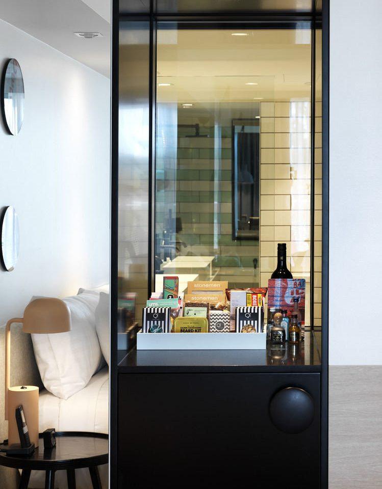 lighting home glass door