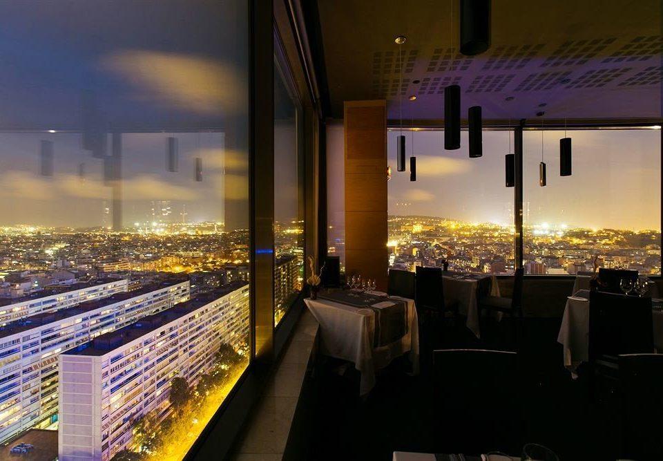 night light evening lighting Downtown cityscape restaurant