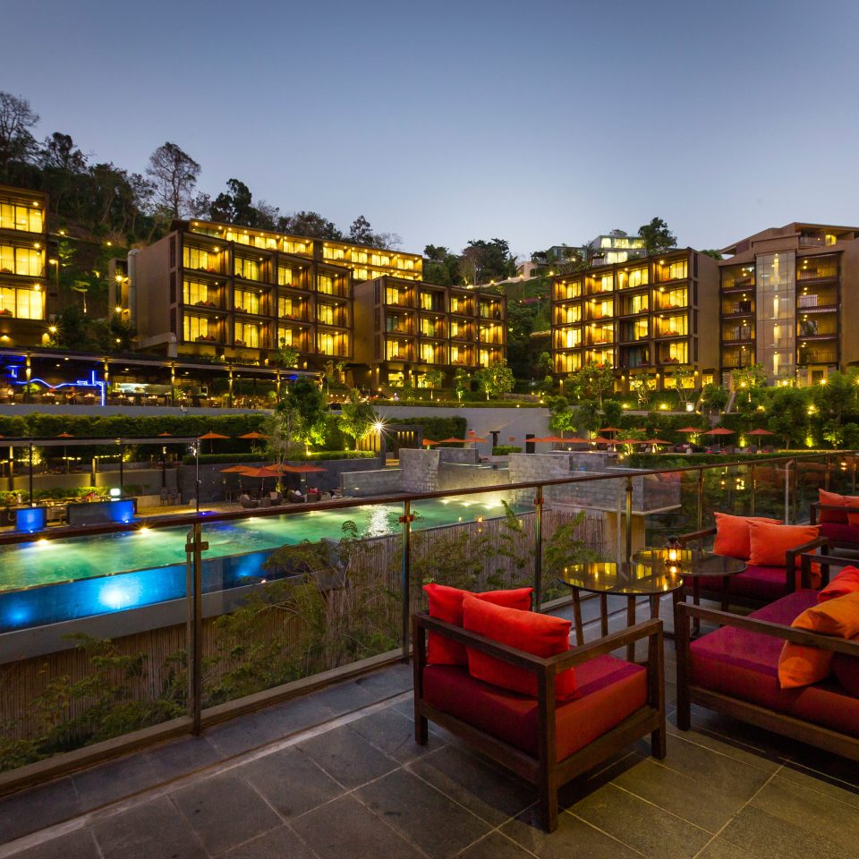 Exterior Lounge Luxury Modern Pool Scenic views sky night plaza evening Downtown cityscape Resort