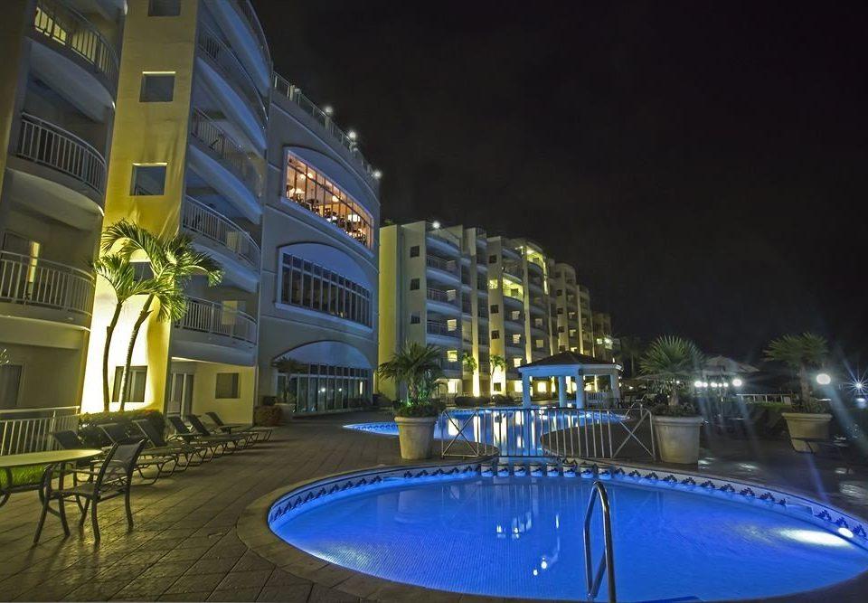 night landmark blue lighting evening Downtown cityscape Resort