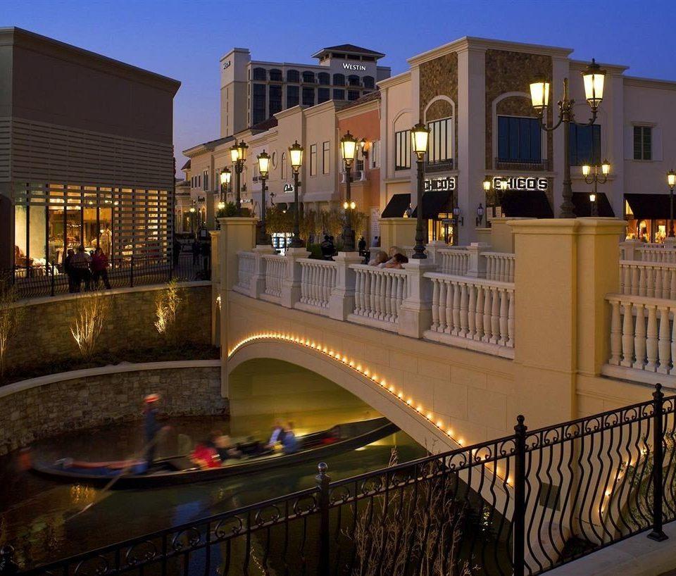 building sky night evening Downtown plaza Resort palace