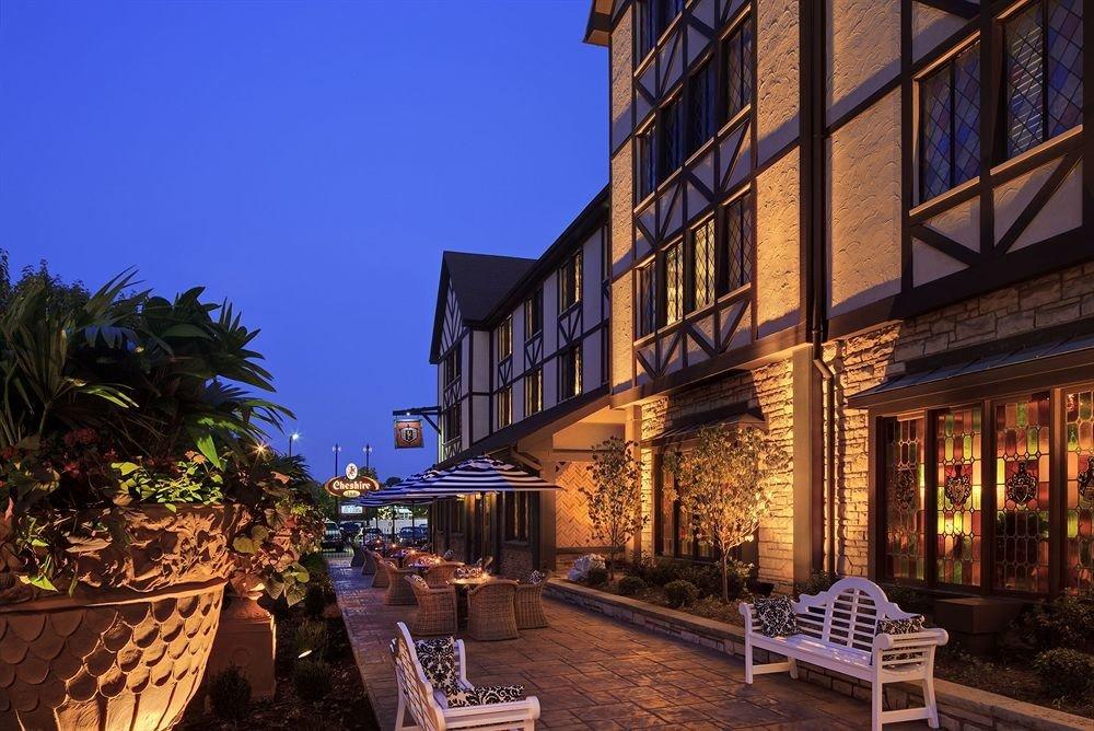 Town night house evening Resort Downtown restaurant