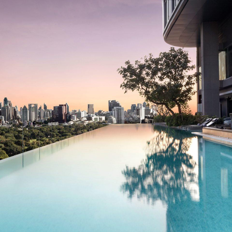 Trip Ideas sky swimming pool building reflecting pool condominium Downtown cityscape Resort