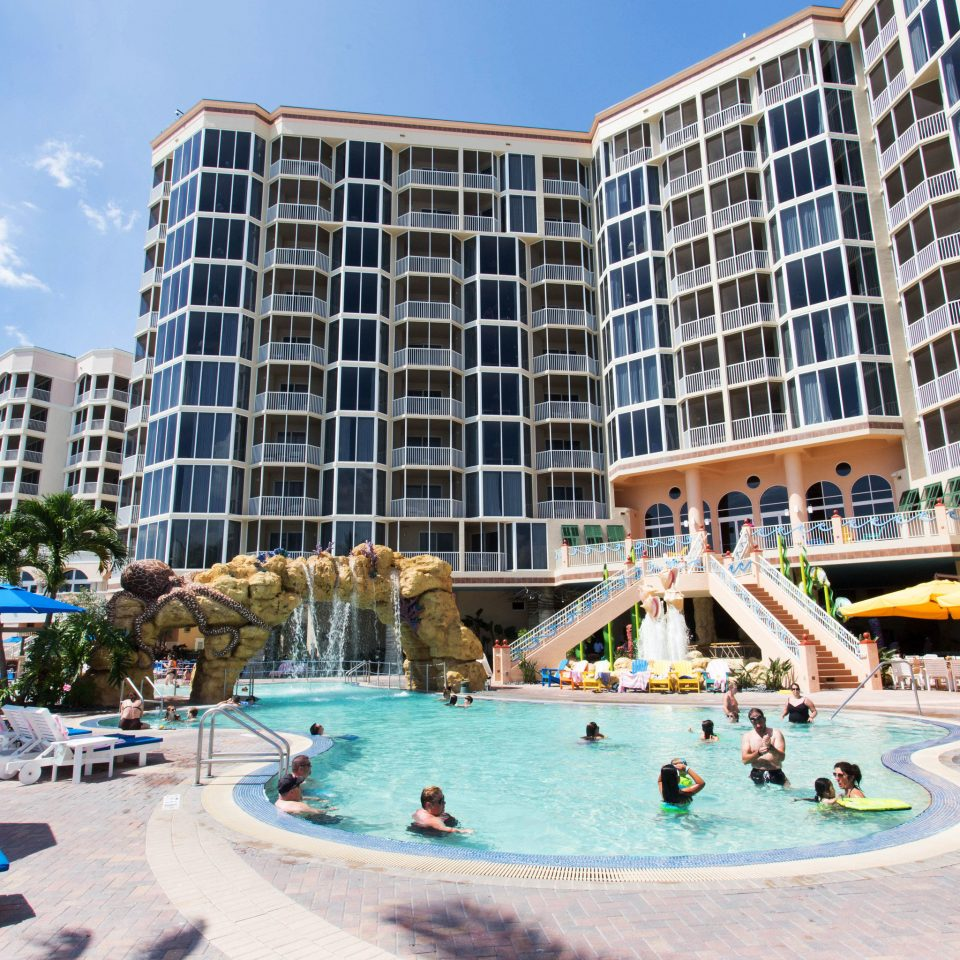 building leisure condominium Resort plaza amusement park park Water park Downtown swimming pool apartment building day