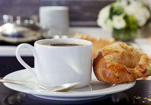 cup coffee plate doughnut food breakfast pastry Drink beverage coffee cup