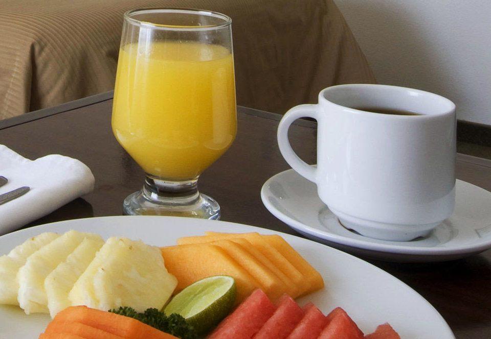 cup food plate coffee breakfast Drink fruit juice