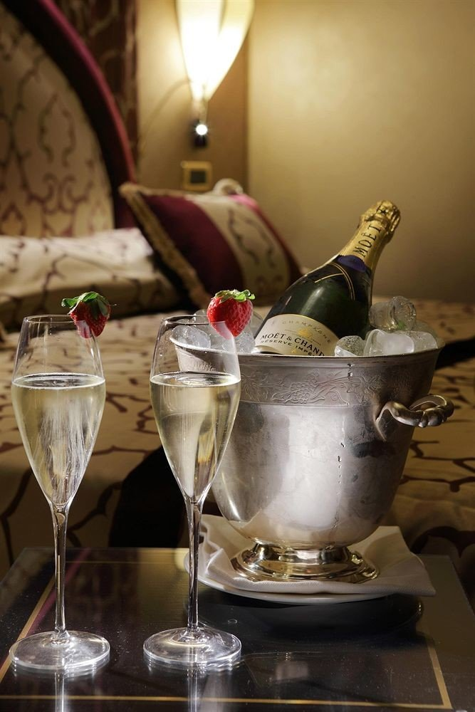 wine Drink restaurant lighting glass food champagne