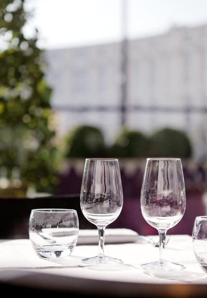wine glasses sitting wine glass stemware empty glass restaurant container Drink drinkware material half