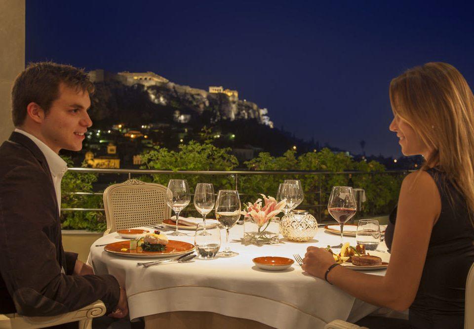 sitting restaurant dinner sense Drink