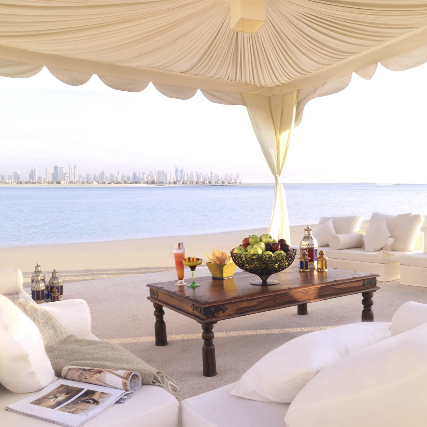Drink Dubai Food + Drink Hotels Lounge Luxury Travel Middle East Resort Waterfront living room