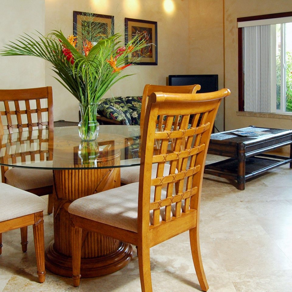 Drink Eat Eco Island Jungle Kitchen property home living room hardwood cottage Suite dining table