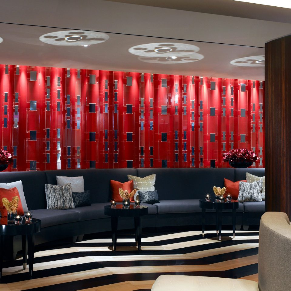 Drink Hip Lounge red curtain living room Lobby