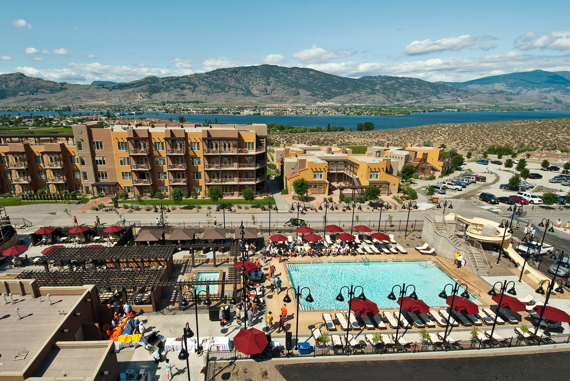 Drink Honeymoon Mountains Pool Resort Romance Vineyard Wine-Tasting Winery sky Town mountain aerial photography sport venue marina cityscape stadium Sea town square walkway