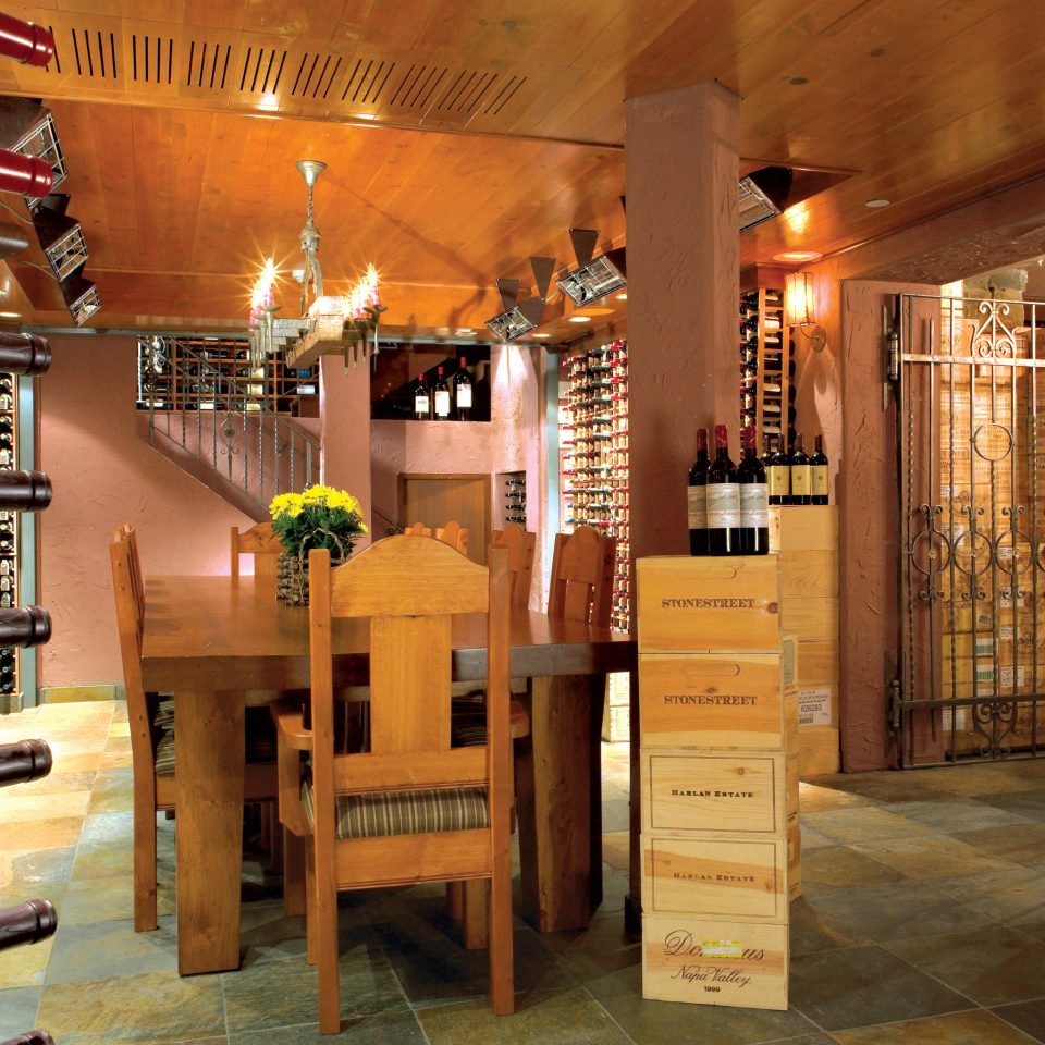 Drink Rustic Wine-Tasting Lobby Winery basement