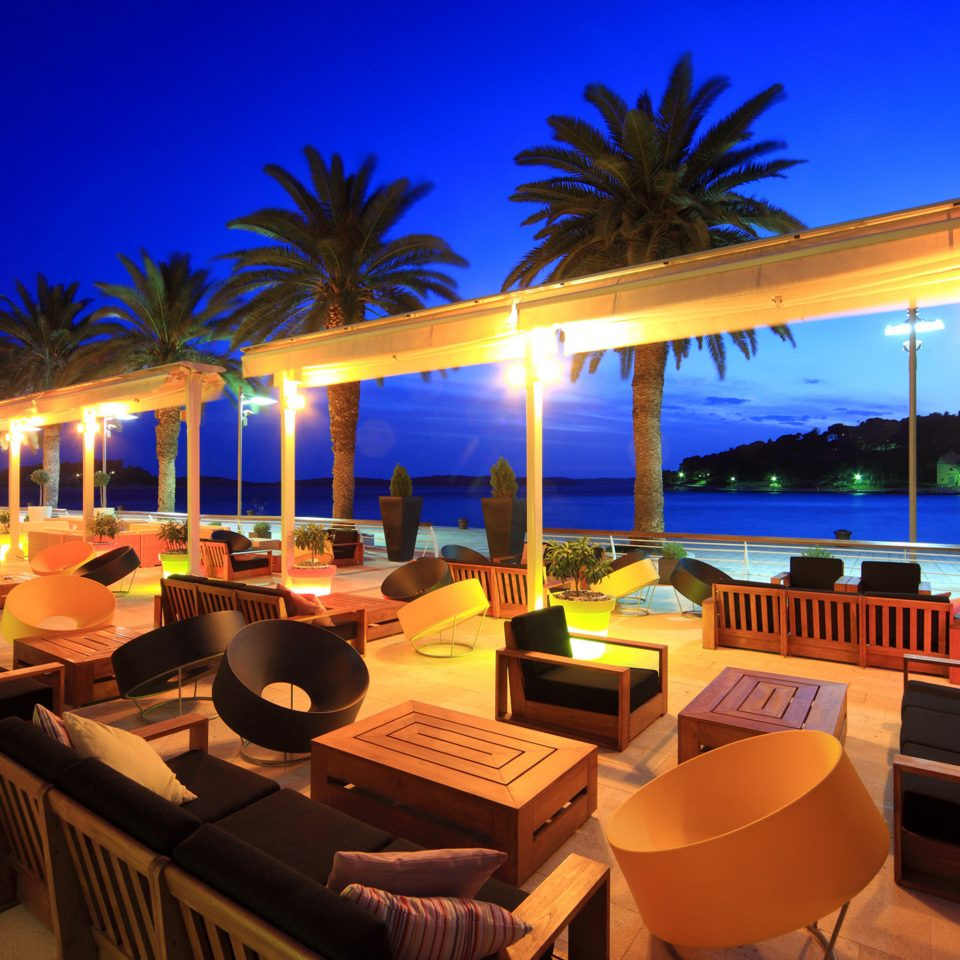 Drink Lounge Nightlife Pool Scenic views Trip Ideas Tropical Resort restaurant Villa night