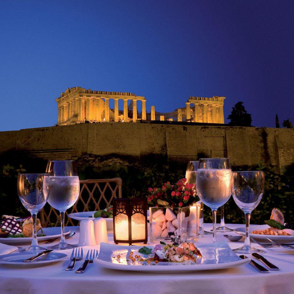 sky wine night evening restaurant lighting Drink Resort