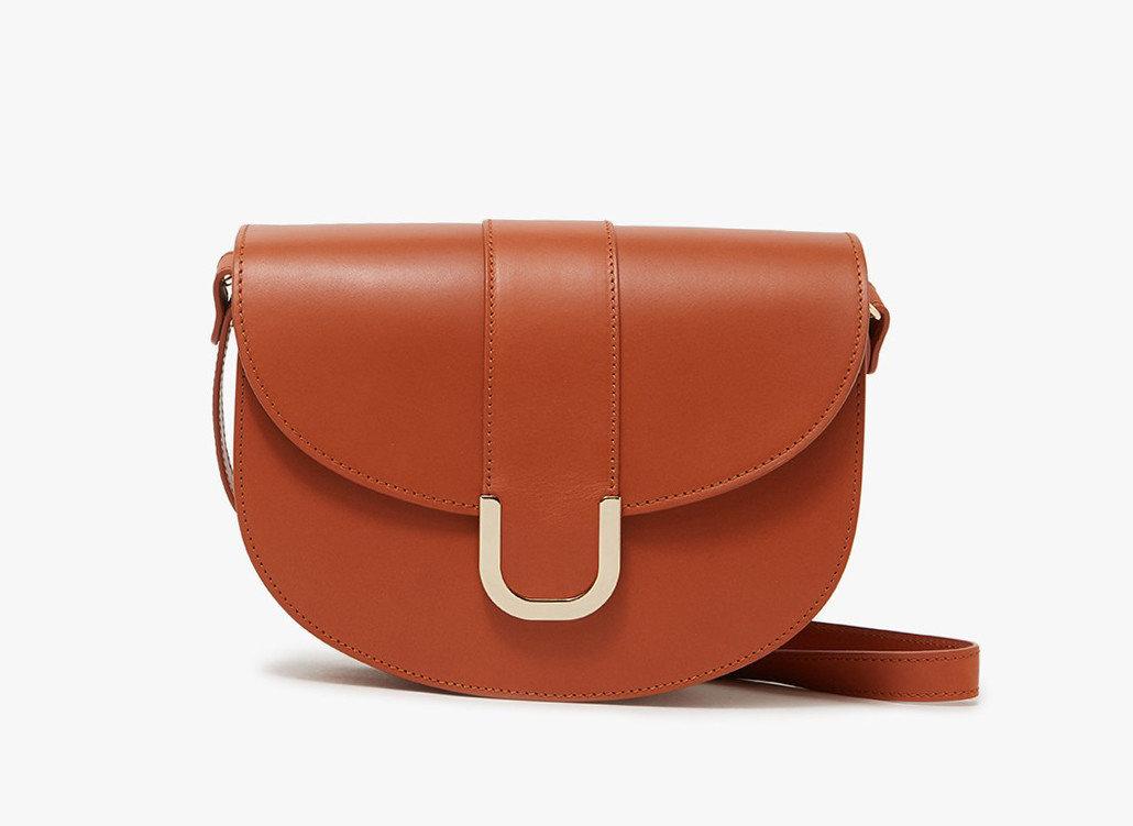 Style + Design Travel Shop accessory bag case leather brown shoulder bag orange product fashion accessory product design handbag strap peach caramel color brand