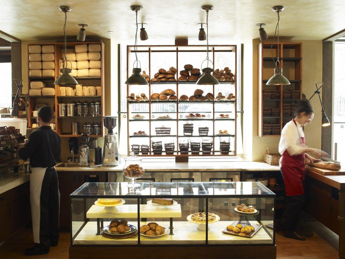 Food + Drink indoor wall floor bakery restaurant meal interior design food sense Boutique Design coffeehouse