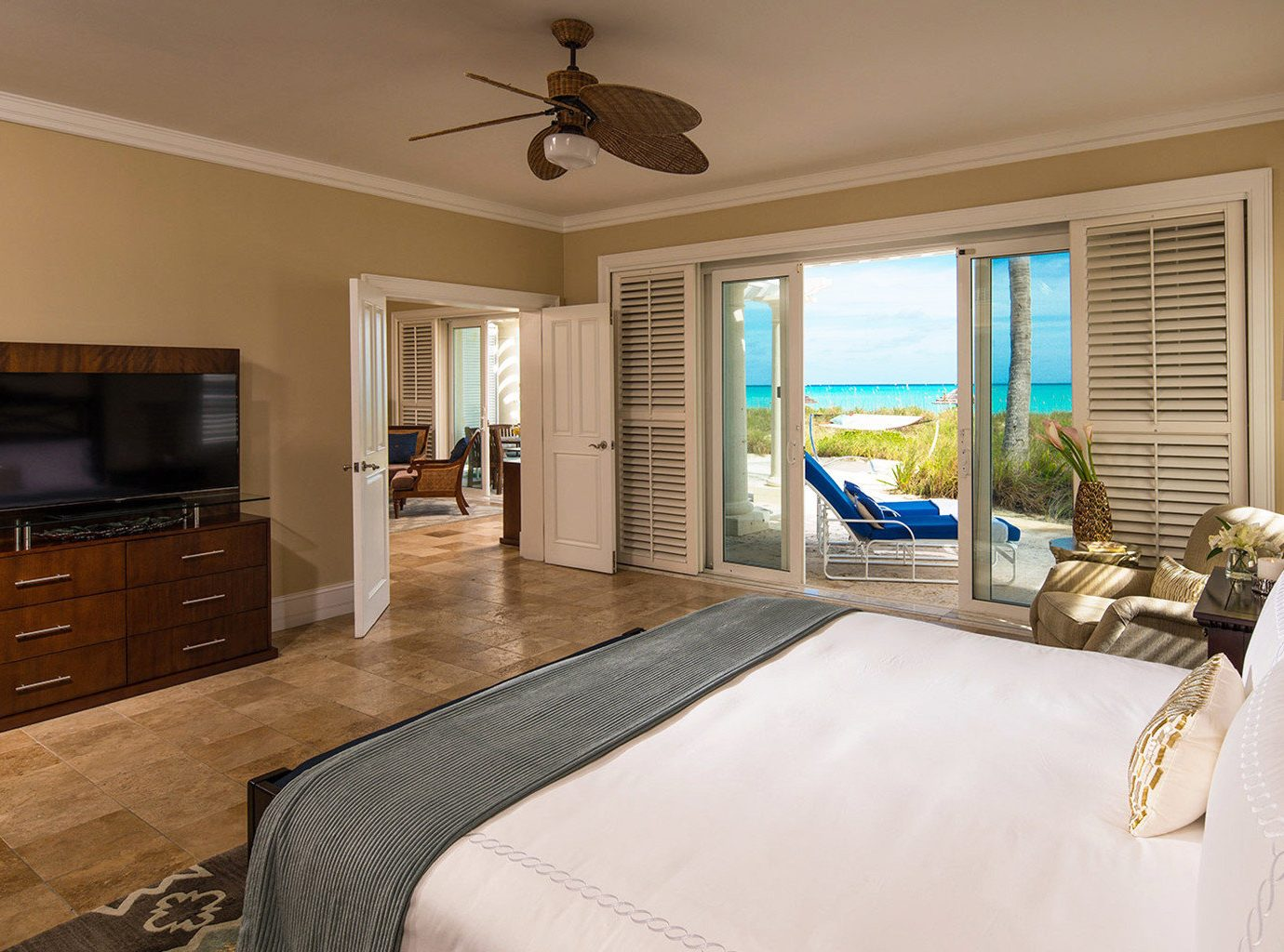 Bedroom at Sandals Emerald Bay