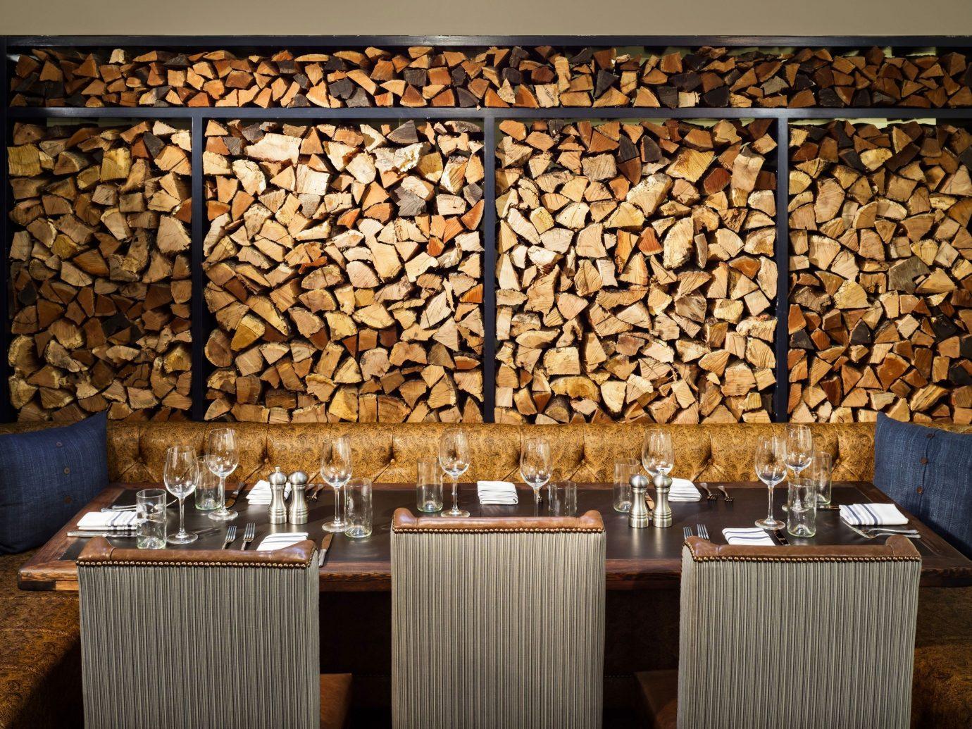 Food + Drink indoor room wall interior design dining room lighting living room restaurant window covering