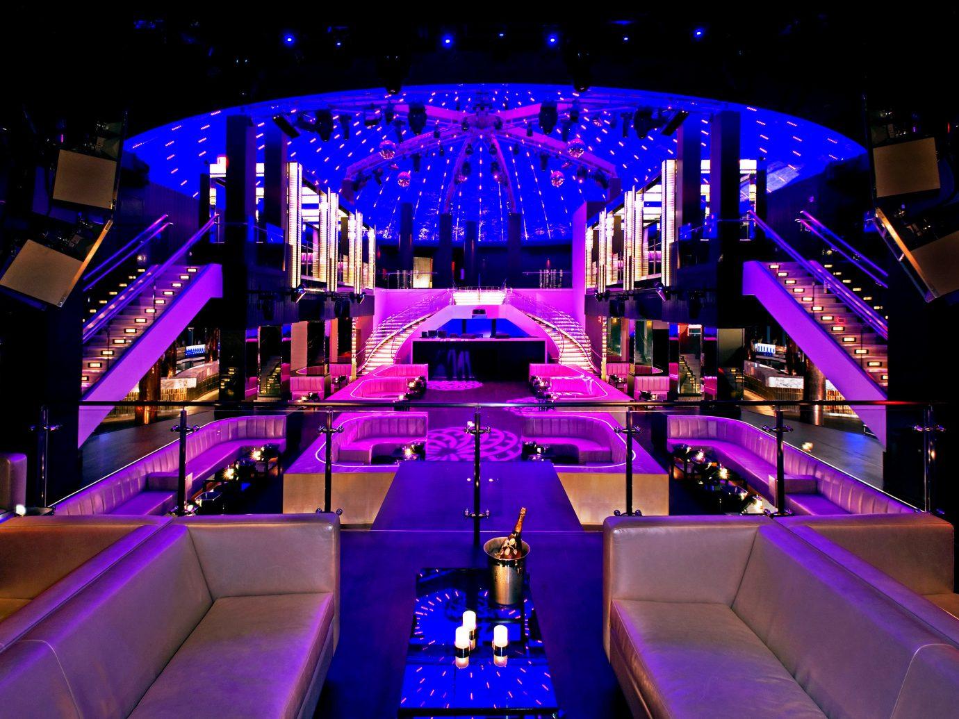 Bar Design Food + Drink Lounge Nightlife Party Play Resort indoor nightclub night light stage