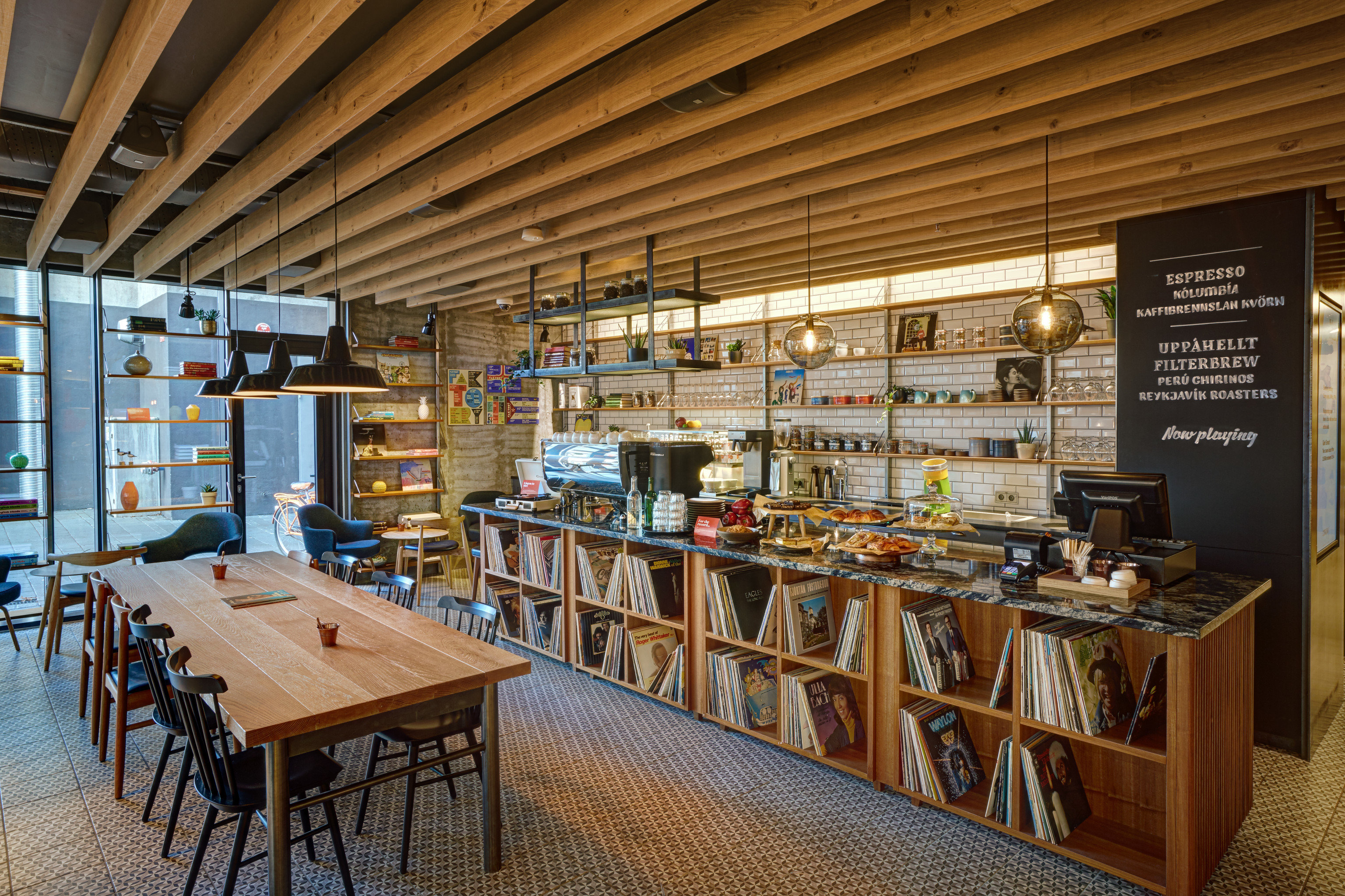 Boutique Hotels Hotels Iceland Reykjavík table indoor building library wood interior design restaurant bookselling