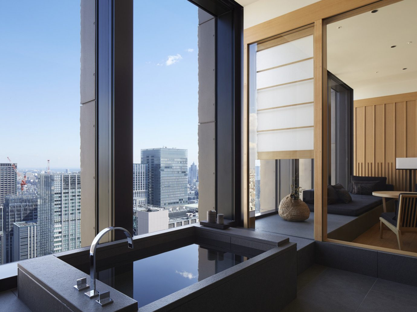 Hotels Japan Romance Tokyo window indoor floor building property room house Architecture interior design daylighting condominium home living room professional Design Modern apartment estate window covering