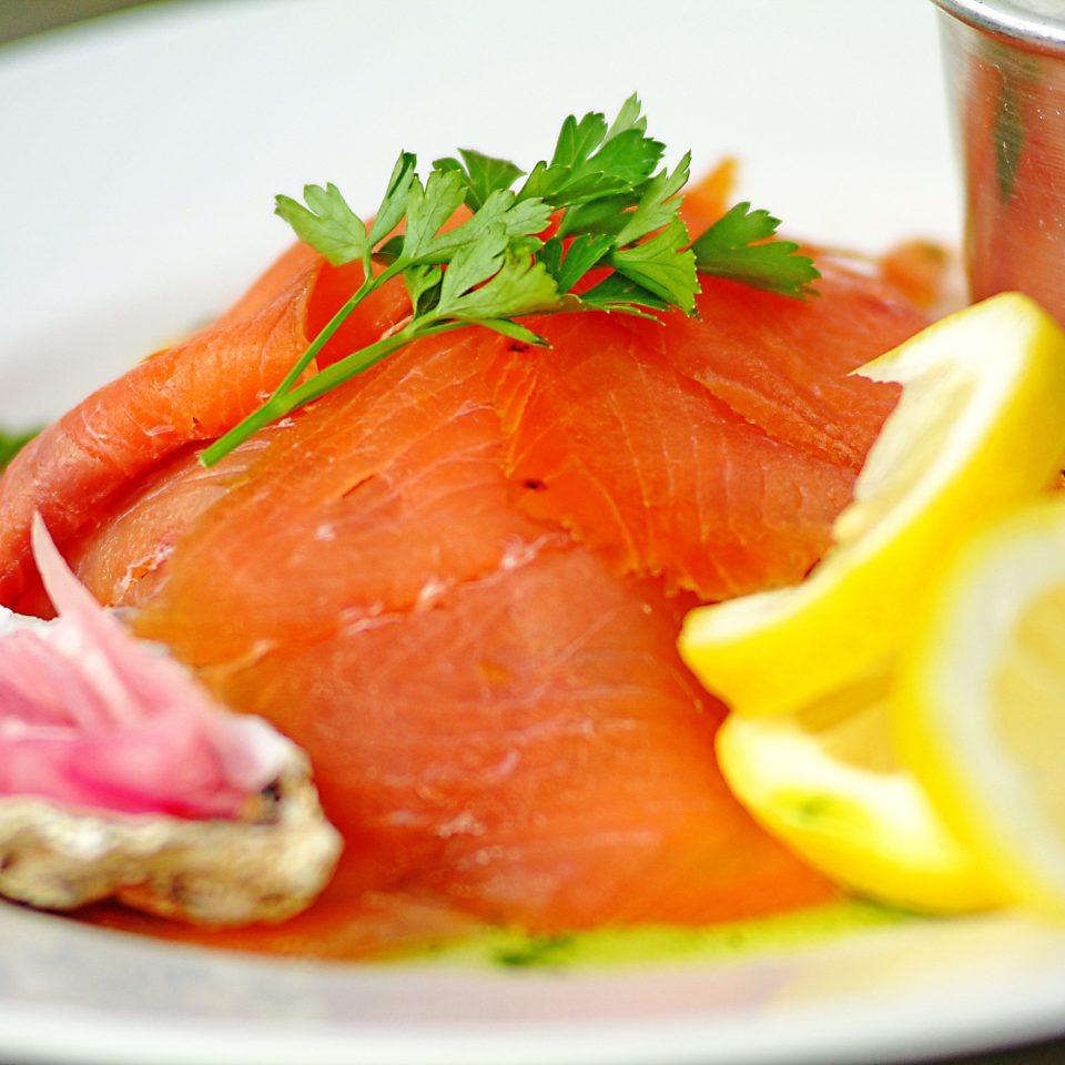 Eat plate food cup smoked salmon fish garnish cuisine citrus salmon Seafood salmon like fish orange sliced