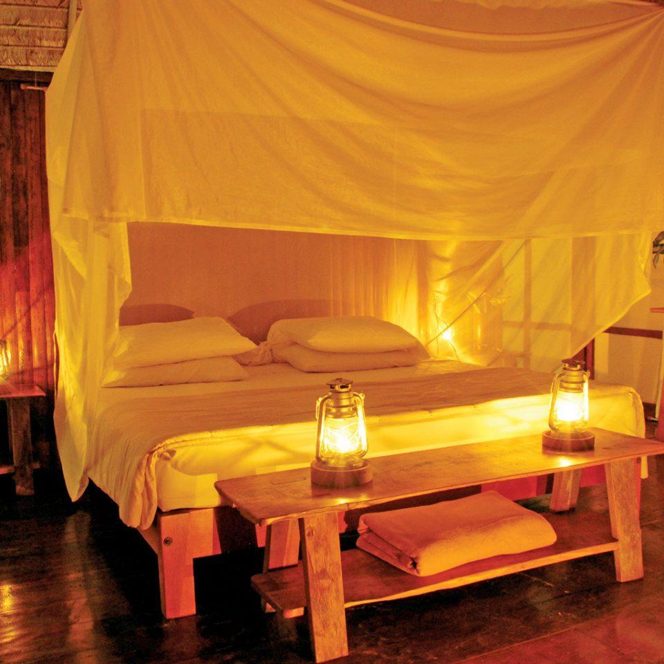 Eco Elegant Lodge Luxury Romantic Rustic mosquito net stage