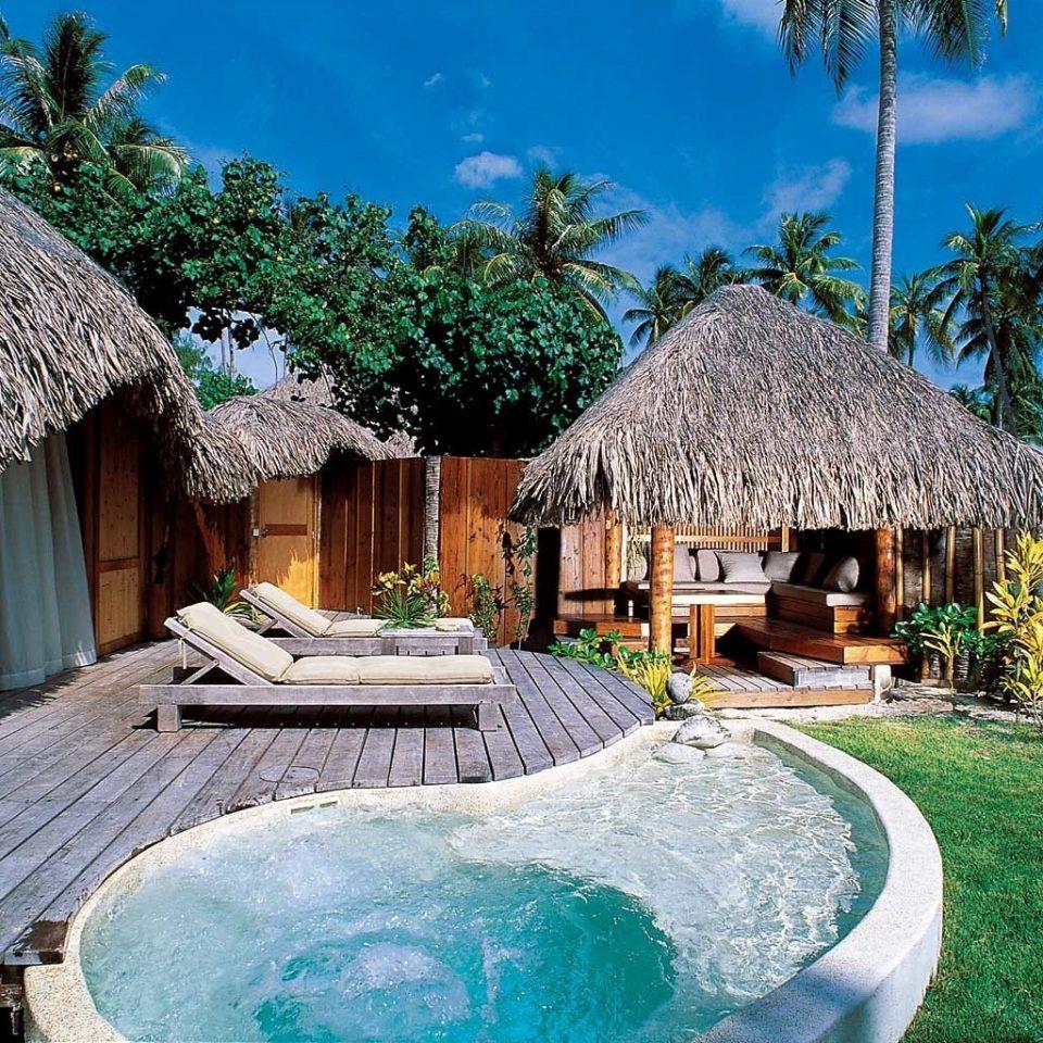 Eco Honeymoon Island Luxury Pool tree building Resort swimming pool green hut eco hotel Villa Village backyard stone roof Garden