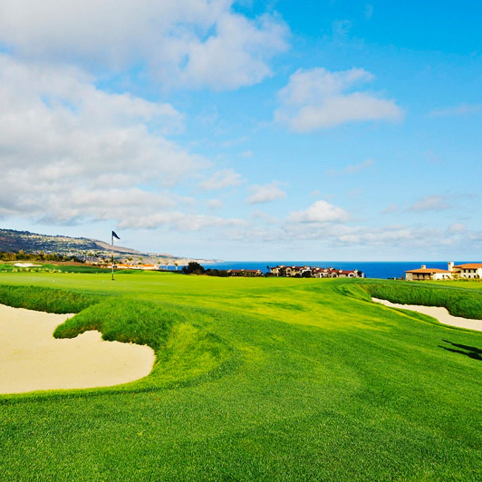 Eco Golf Grounds Ocean Romantic Sport grass sky structure grassland plain horizon field sport venue sports golf course atmosphere of earth meadow hill rural area golf club grassy prairie outdoor recreation lawn race track landscape green recreation aerial photography day lush