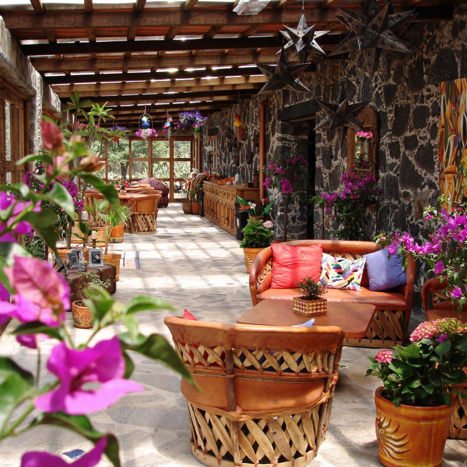 Eco Grounds Lounge Patio flower floristry flower arranging plant floral design