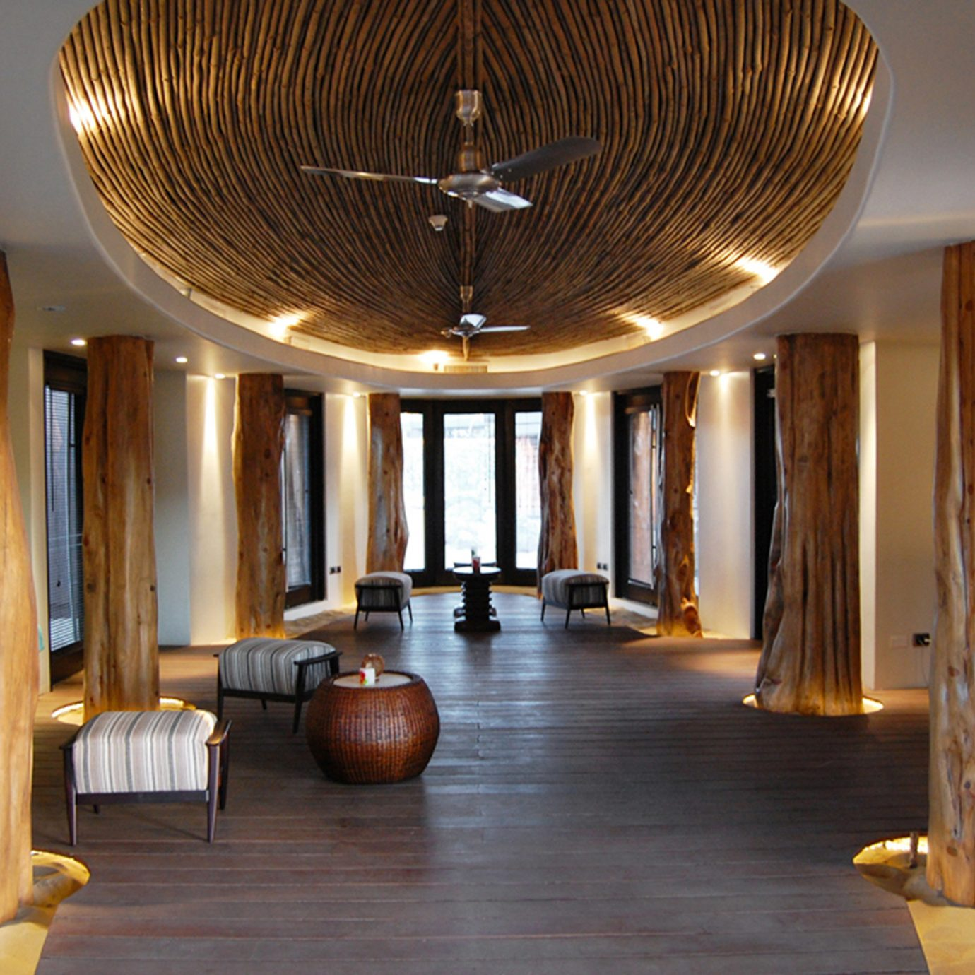 Eco Lobby Lounge Modern Romantic property wooden home lighting Resort mansion living room tourist attraction restaurant hall