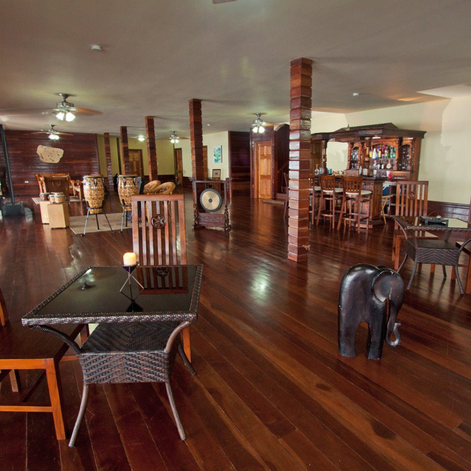 Eco Lobby Rustic property hardwood recreation room hard wood flooring home wooden living room flooring dining table
