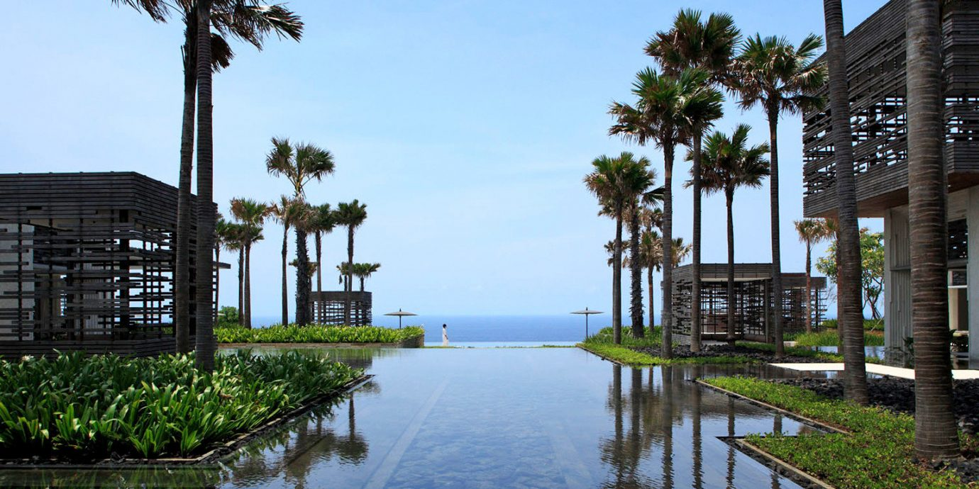 Eco Luxury Modern Pool Scenic views Waterfront sky tree water walkway arecales waterway Resort plant traveling