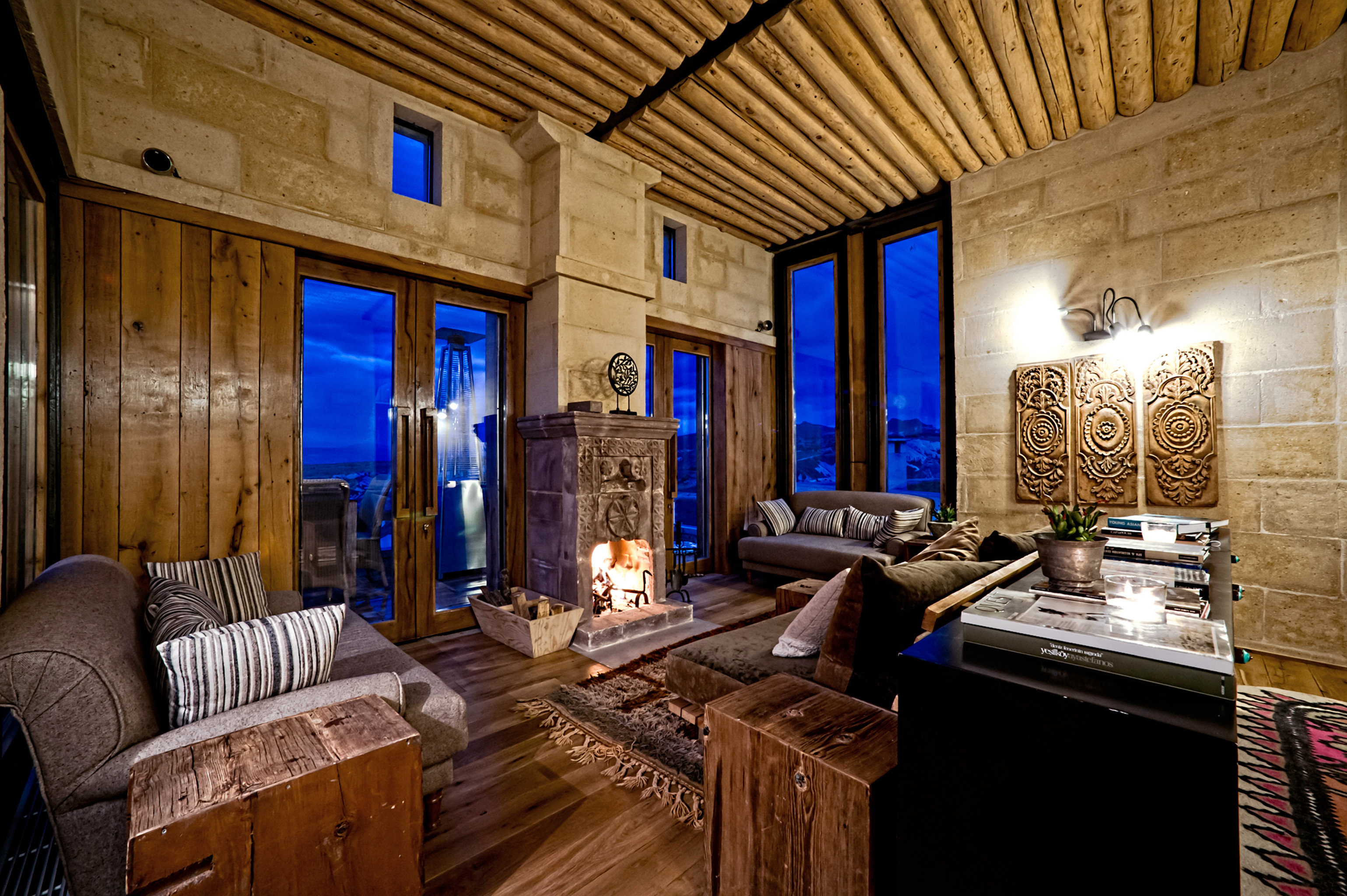 Eco Luxury Resort Rustic Scenic views property house building home living room mansion cottage lighting log cabin farmhouse