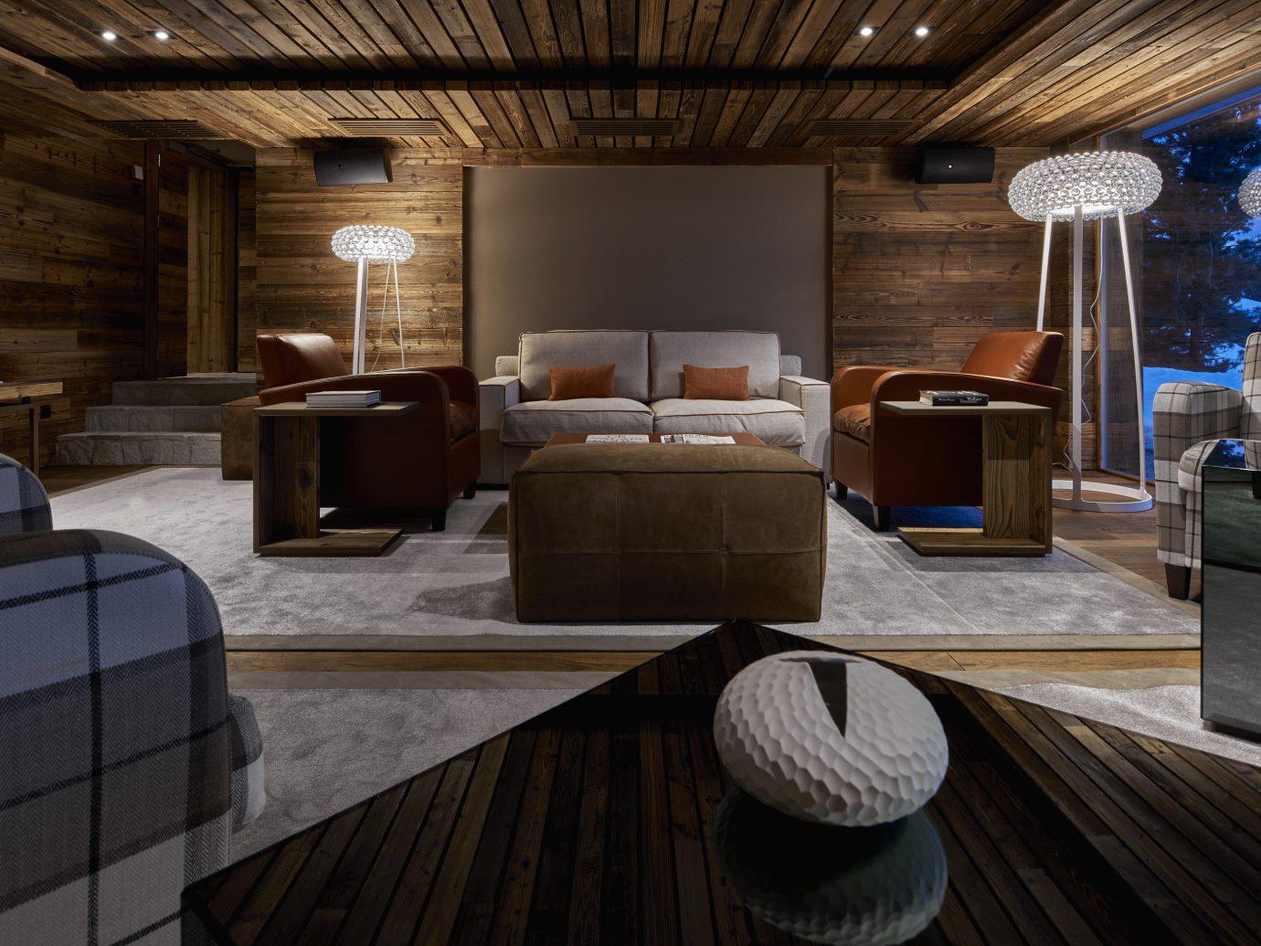 Boutique Hotels Hotels Outdoors + Adventure Winter indoor floor room ceiling interior design Architecture wood interior designer furniture