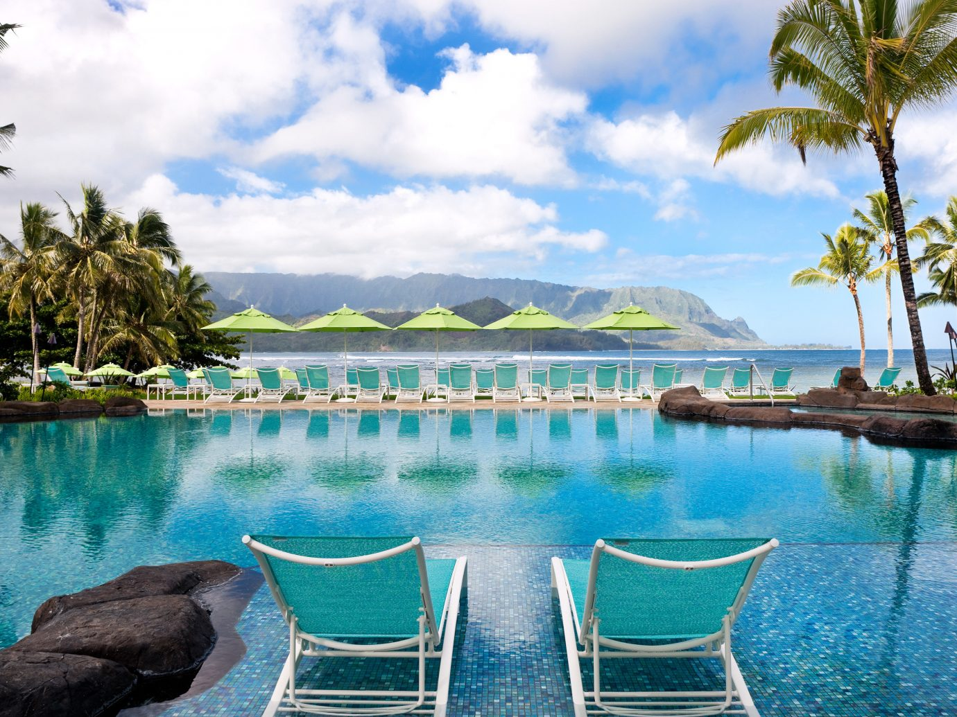 Infinity Pool At St. Regis Princeville Resort In Kauai, Hawaii