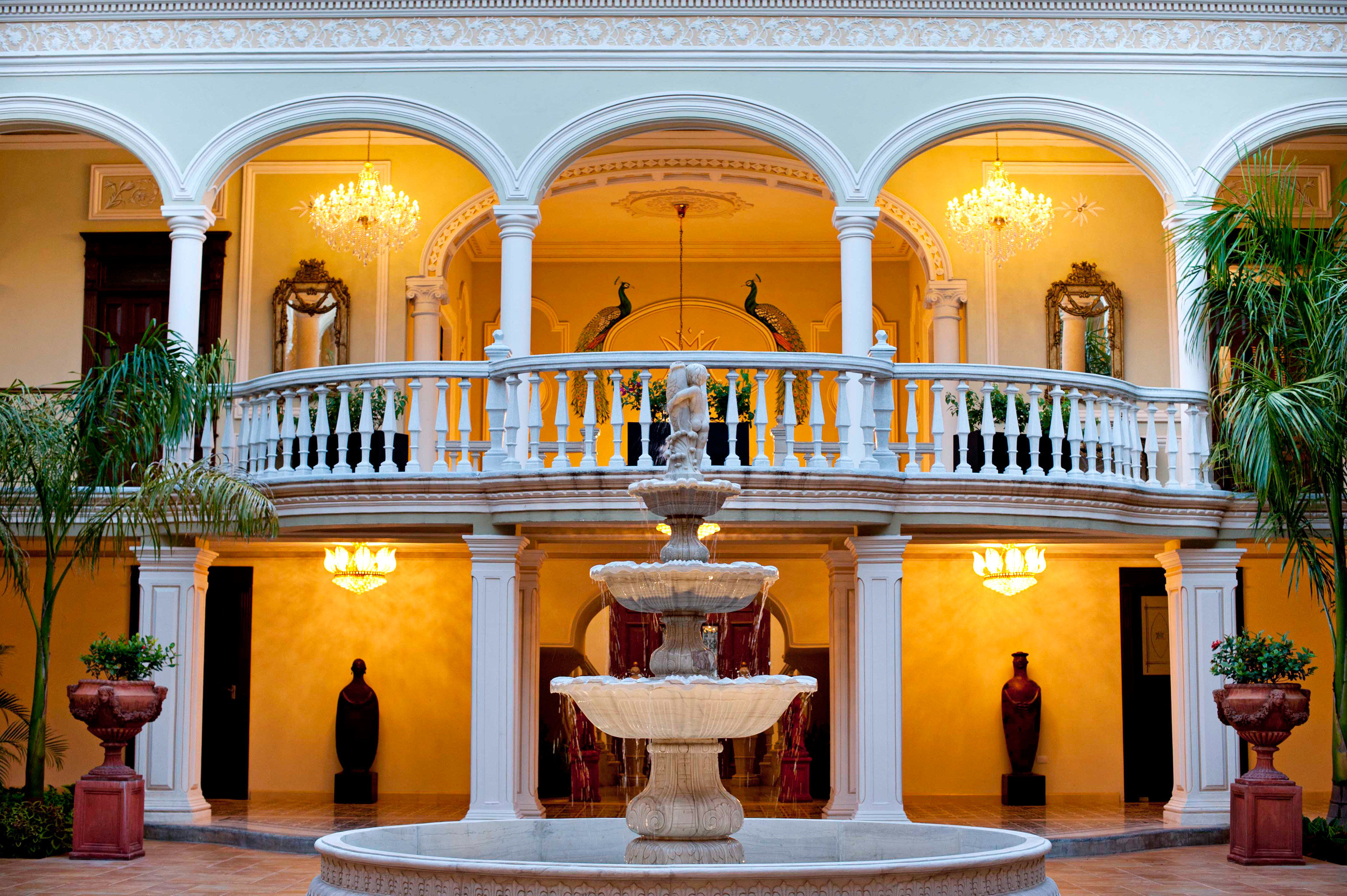 Elegant Exterior Grounds Mexico Trip Ideas Weekend Getaways building palace yellow Lobby mansion hacienda tourist attraction colonnade
