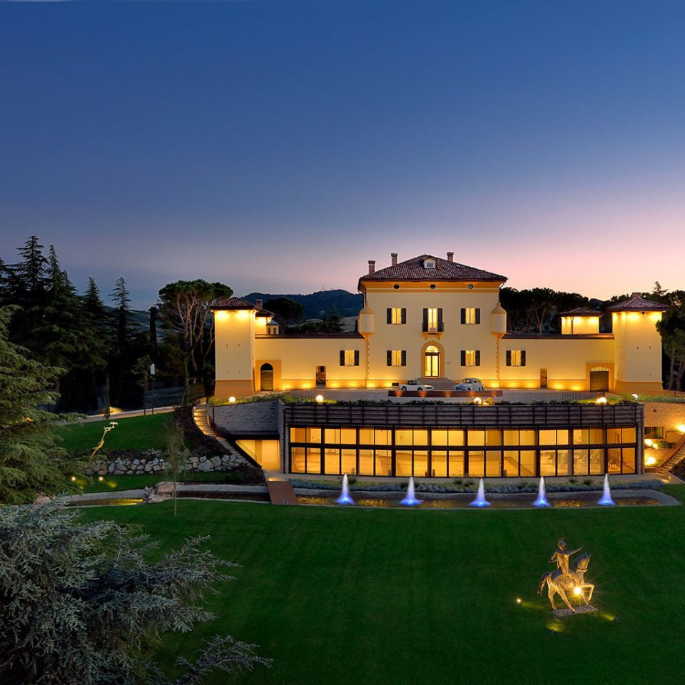 Elegant Exterior Grounds Luxury Villa sky grass house night home evening Resort mansion dusk