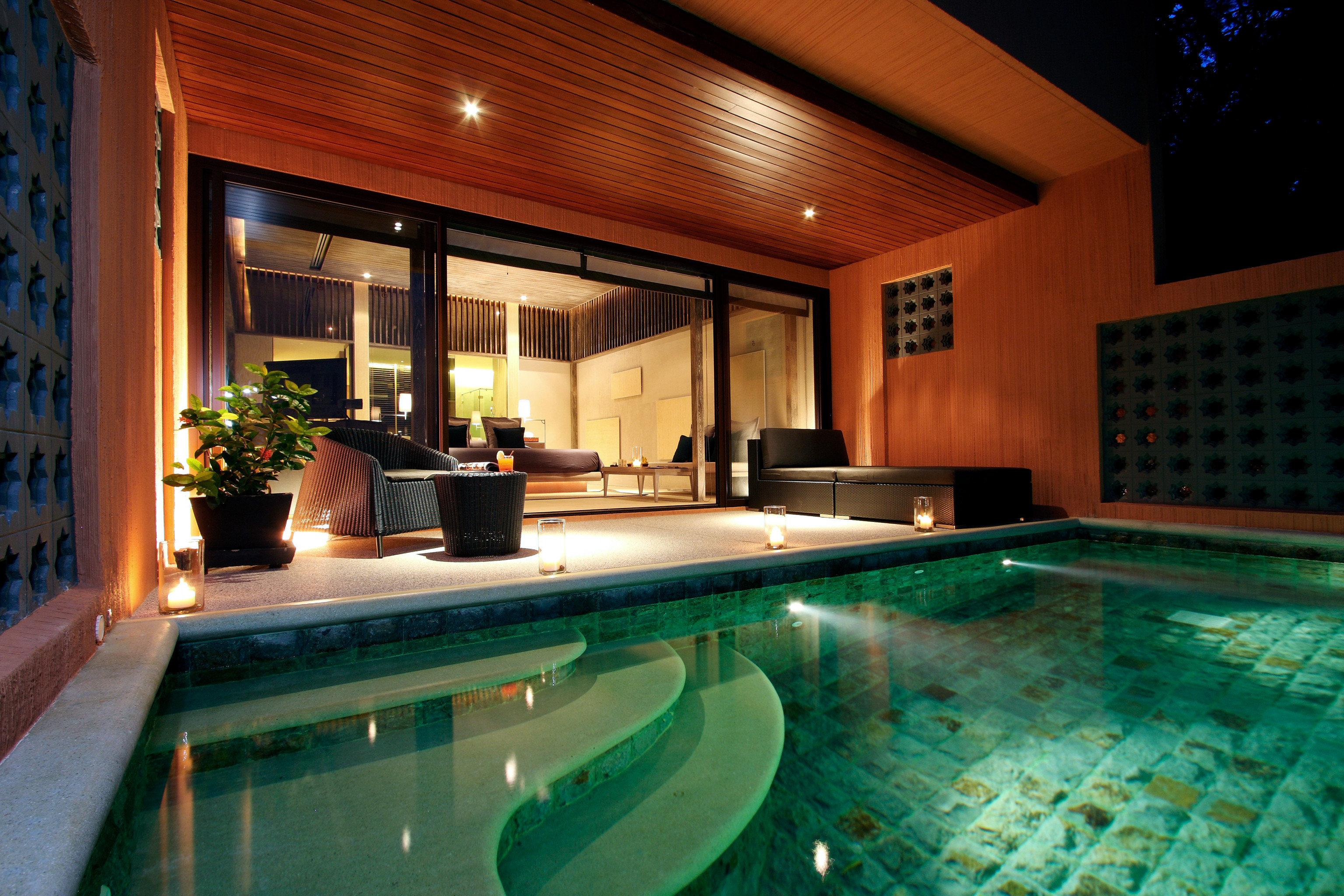 Elegant Exterior Luxury Modern Patio Pool swimming pool property counter Villa Resort jacuzzi billiard room mansion Island