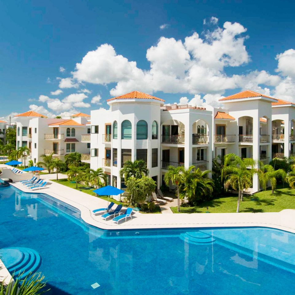 Elegant Exterior Lounge Luxury Pool sky swimming pool property Resort leisure condominium Villa mansion home resort town residential area caribbean backyard