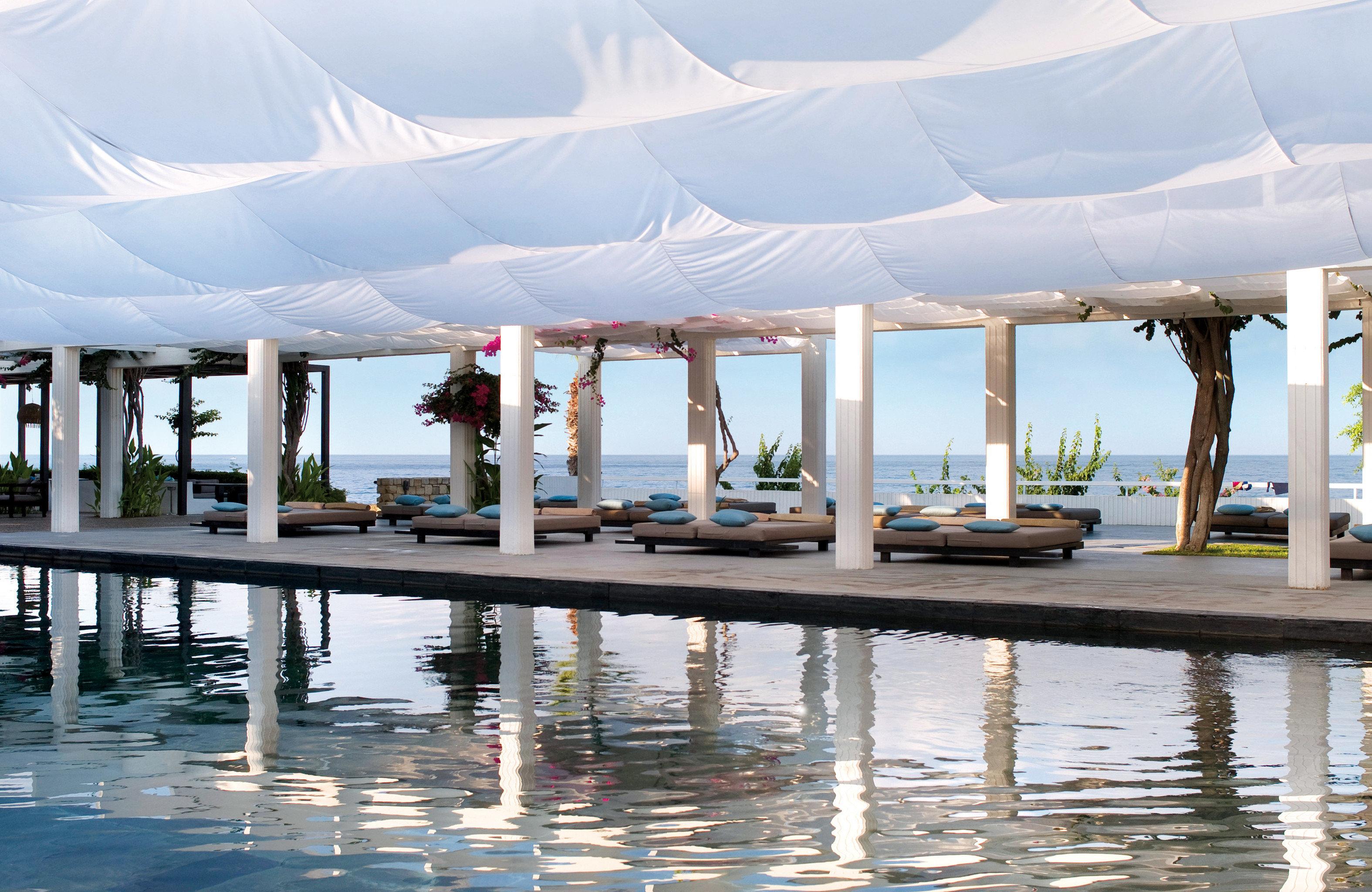 Elegant Family Island Lounge Outdoors Patio Pool Waterfront leisure Resort water swimming pool marina dock Sea