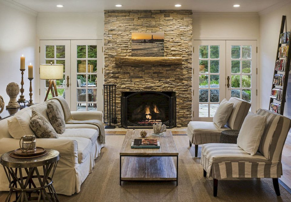 Elegant Hip Lounge Luxury Modern sofa Fireplace living room property home fire hardwood hearth cottage flooring