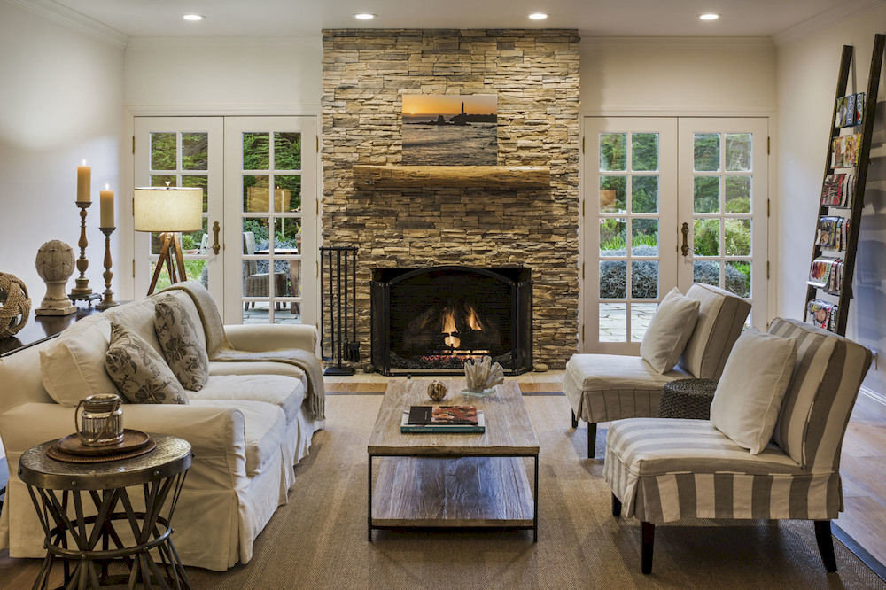 Elegant Hip Lounge Luxury Modern sofa Fireplace living room property home fire hardwood hearth cottage flooring