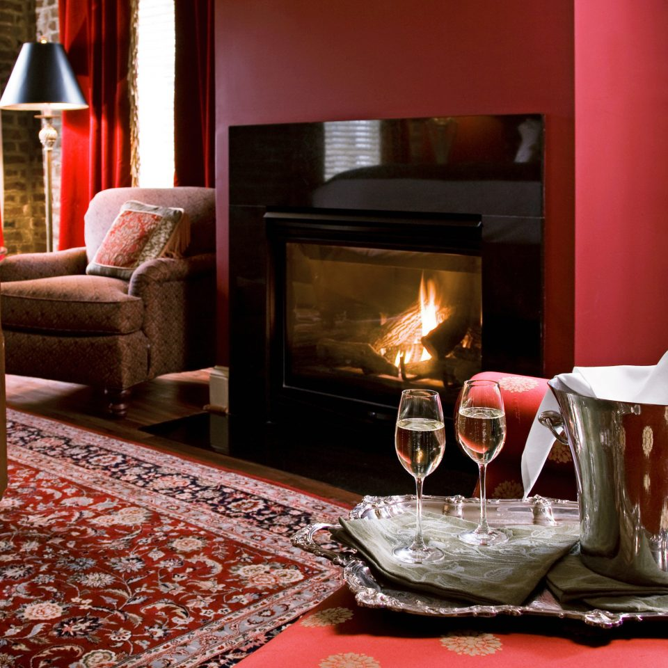 Elegant Fireplace Historic Lounge Luxury red living room home hearth cottage