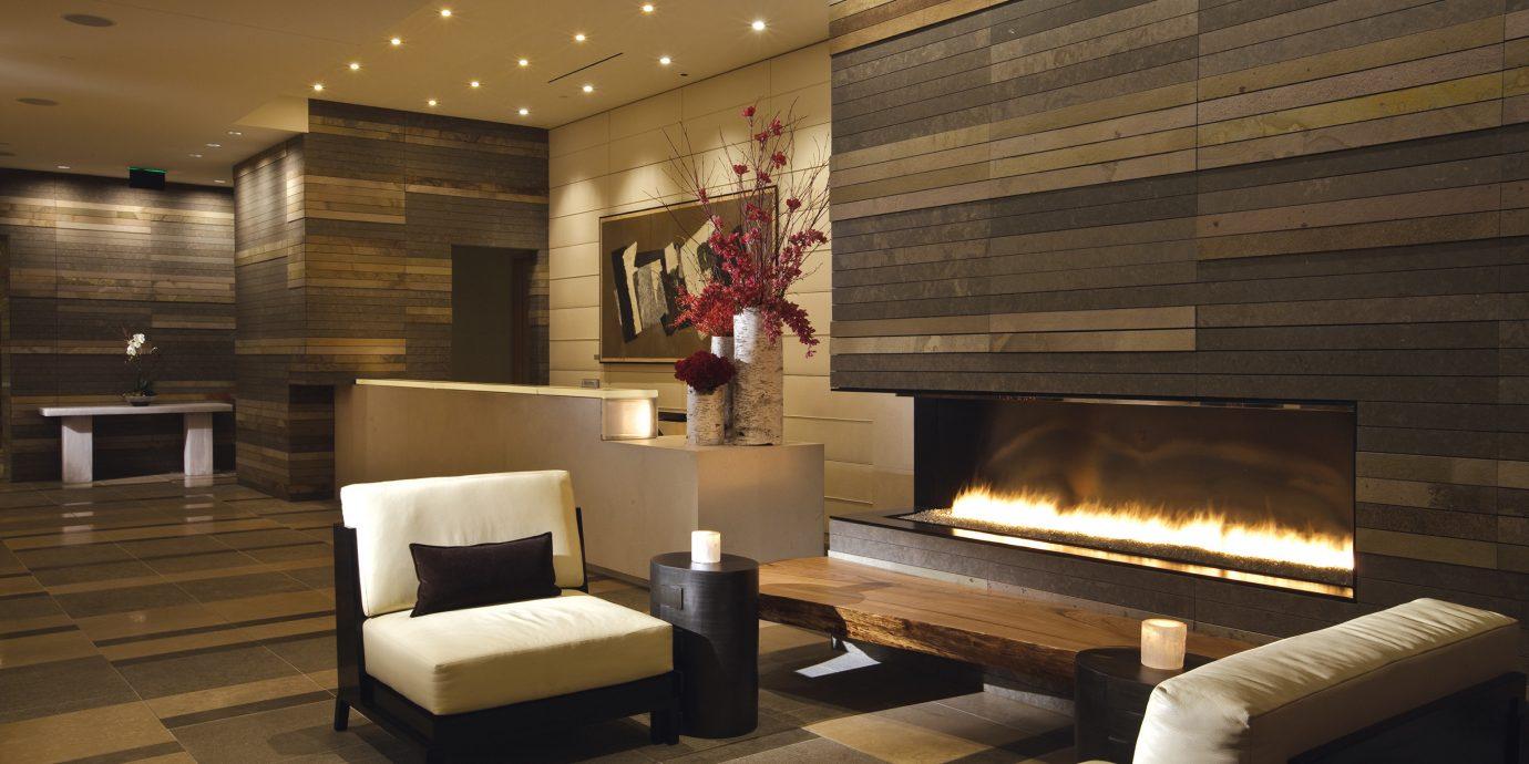 Elegant Fireplace Hotels Lounge Modern Lobby living room lighting home