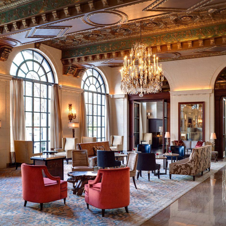 Elegant Fireplace Lounge Lobby building palace restaurant ballroom